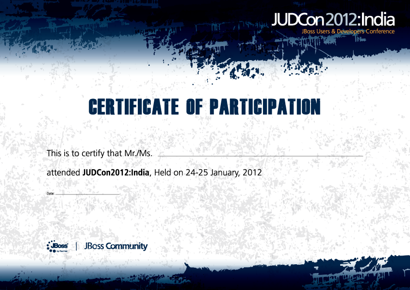 Certificate Of Participation, Mockup . ...  Design Of Certificate Of Participation