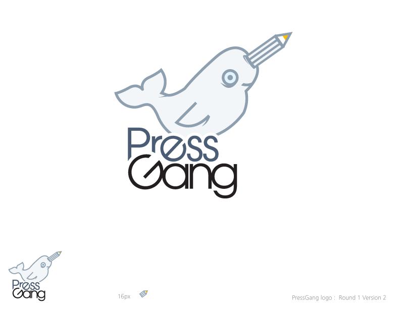 design-90  logo design for the pressgang project
